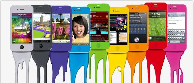 Color swap kits available for iPhone 4 and 4s models at Repair Sharks