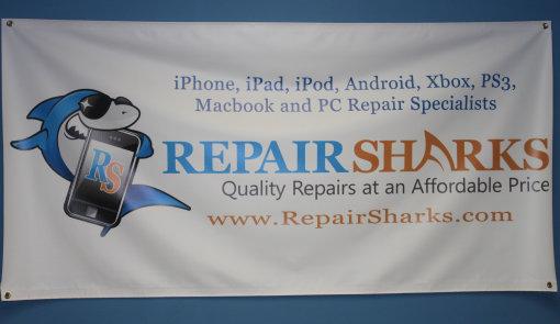 repair sharks banner