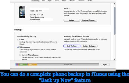 iTunes Photo Backup